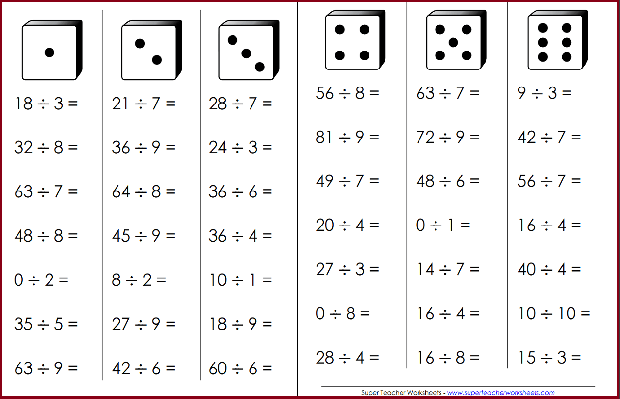 Division Fluency Game
