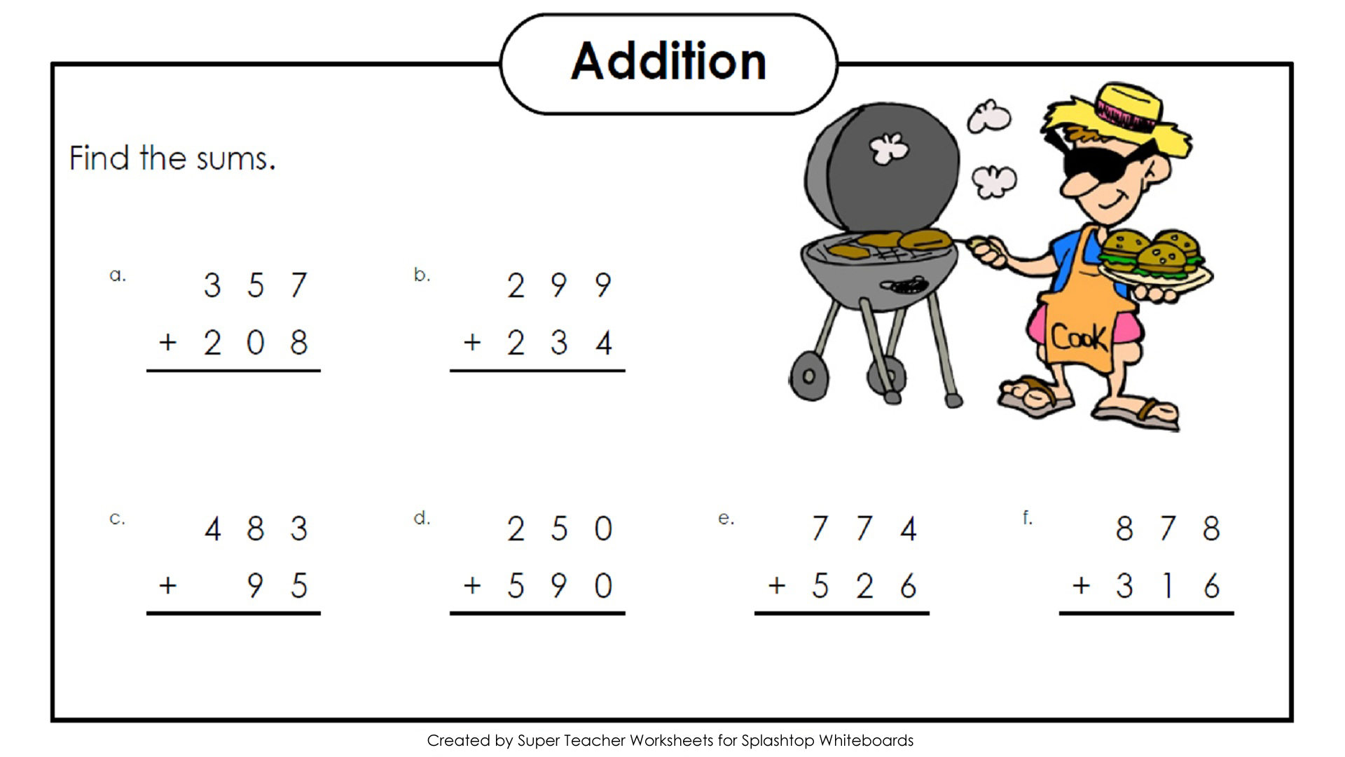 Worksheet Three Digit Addition And Subtraction Grass