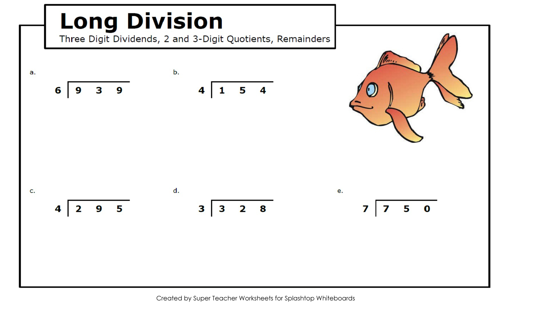 Long Division Worksheet For Grade 2