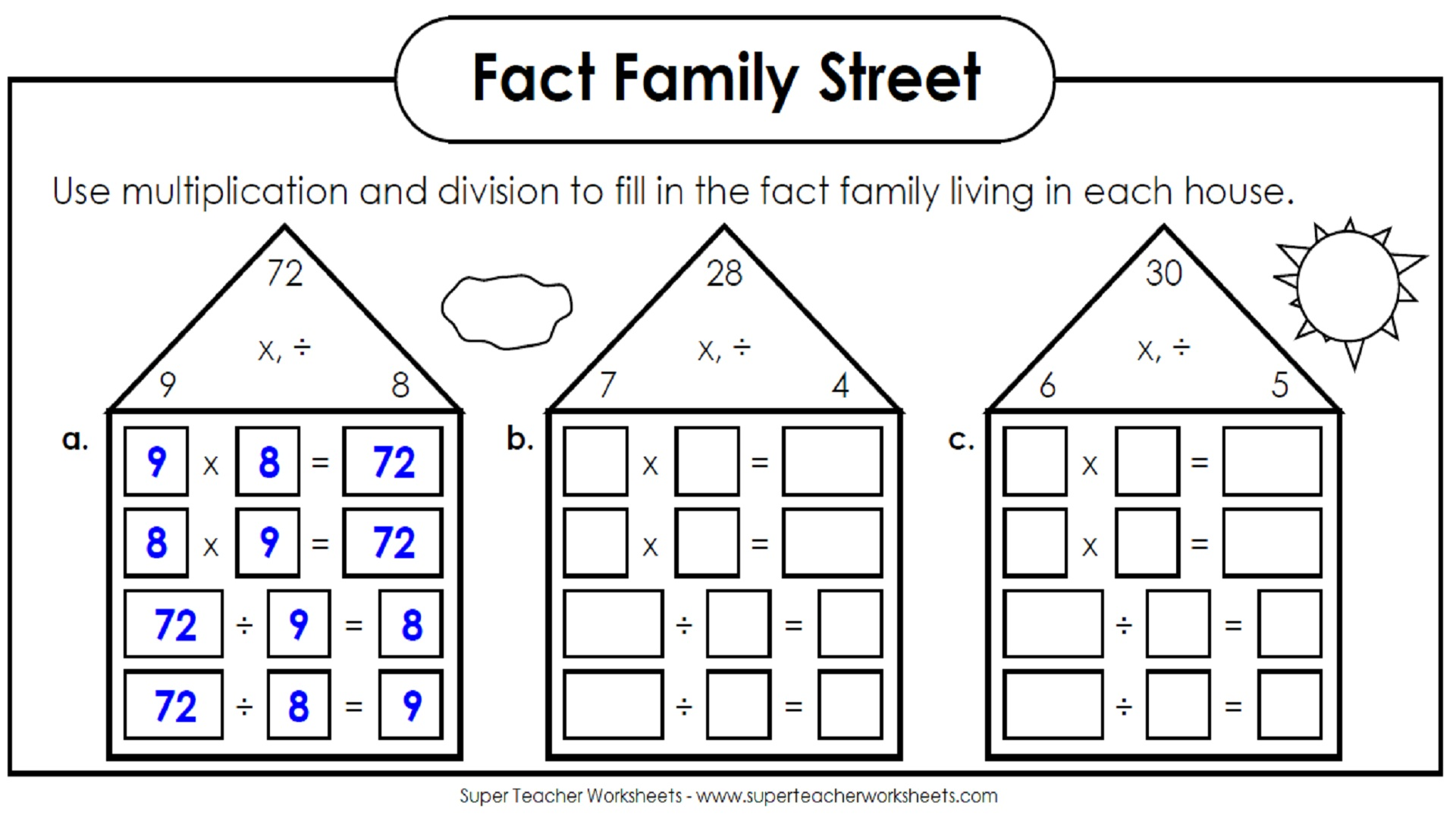 New 168 Division Family Worksheets