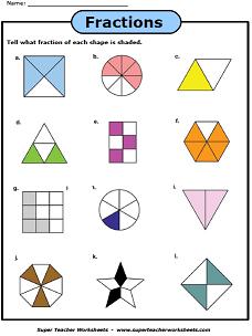 Basic Fraction Worksheets Amp Manipulatives