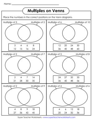 Venn Diagram Worksheets