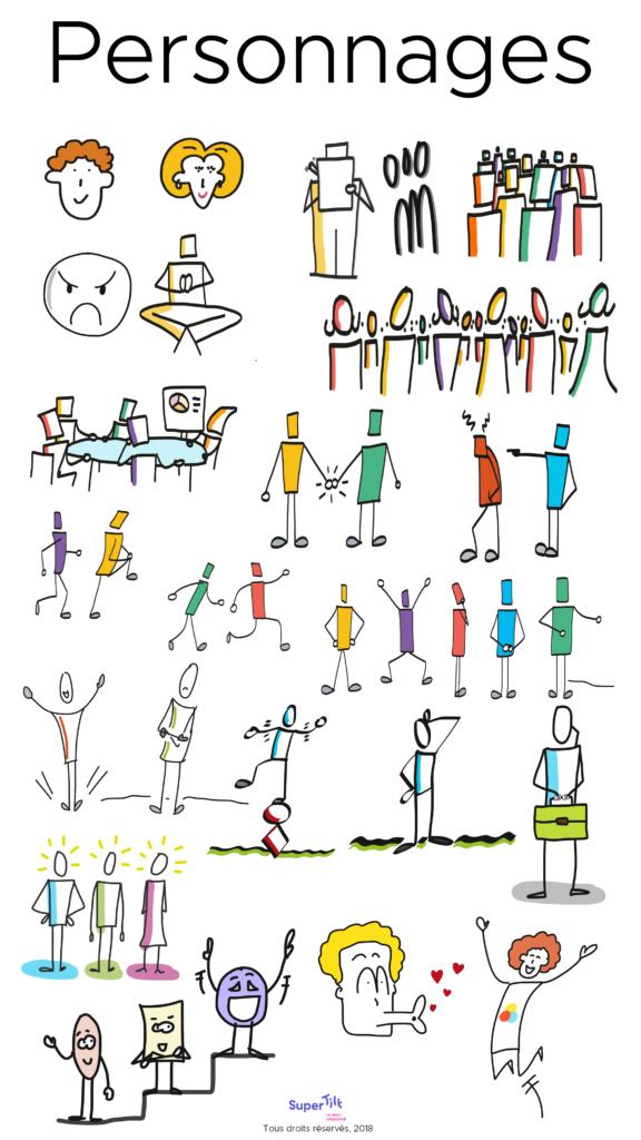 Les personnages - Formation à la facilitation graphique