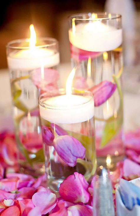 Cylinder Wedding Centerpieces