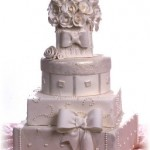 Five Tier Wedding Cake – Stacked Gift Box Design