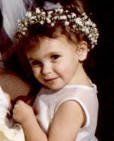 Wedding reception - flower girl picture