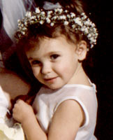 Wedding reception - flower girl picture