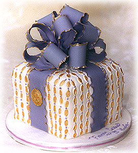 Image of Wedding Cake - One Tier, Gift Design