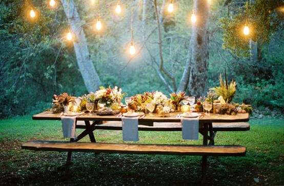 Outdoor Wedding Ideas - Picnic Wedding in Park