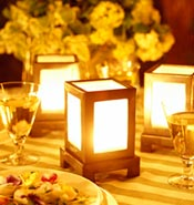 Reception Table Candle Lanterns