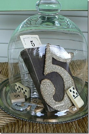Picture of sparkling wedding table number