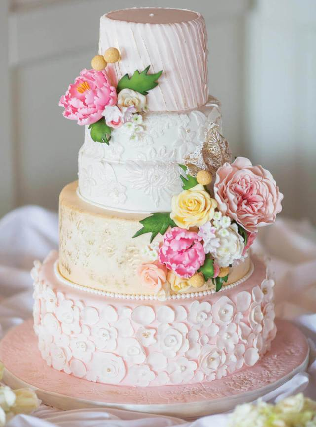Spring wedding cake design ideas