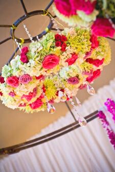 Wedding Floral Chandelier DIY