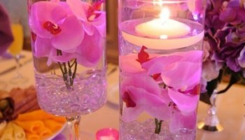 Diy tissue paper candle holders as wedding centerpieces cylinder wedding centerpieces so easy to make junglespirit Choice Image
