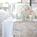 Wedding Table Decor – Sequined Table Covers