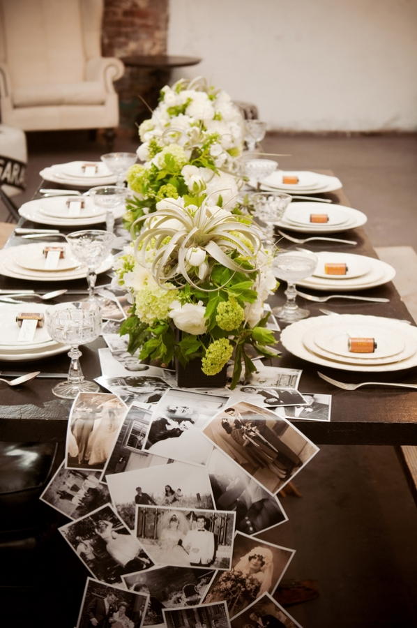 Wedding Table Decorations - Pictures Table Runner