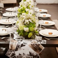 Wedding Table Decor Ideas  - Photos Table Runner