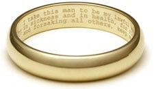 Wedding Vows Engraved into Rings