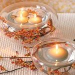 Fall Wedding Centerpieces – Floating Candles