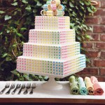 Multi-Colored Dot Wedding Cake