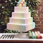 Multi-Colored Dot Wedding Cake