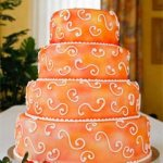 Orange Wedding Cake – Four Tier
