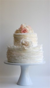Ruffle Wedding Cake in White