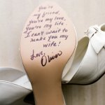 Sentimental Idea for Wedding Shoes
