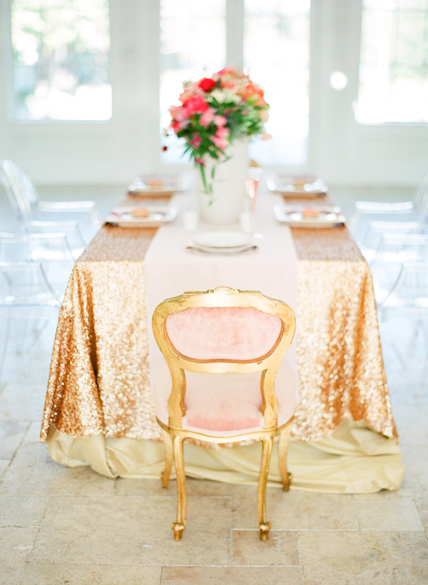 Table for Wedding Vow Renewal Party