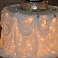 Wedding Cake Table - Round, with Lights