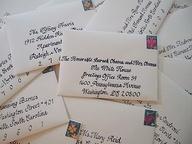 Wedding Invitations in Envelopes Picture