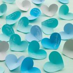 DIY 3-D Heart Escort Cards