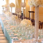 Glamorous Crystal Reception Table Decor