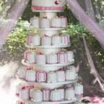 Cupcake Wedding Cake Designed With Adorable Presents