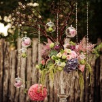 Branches Centerpiece Dripping With Crystals and Hanging Globes
