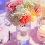 DIY Carnations Centerpieces in Dressed-Up Vase