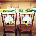 DIY Wedding Chair Back Decorations for Bride and Groom (Spring Wedding)