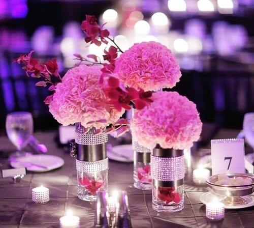 DIY Carnations centerpiece