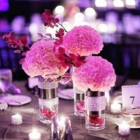 DIY Carnations Centerpieces in Dressed-Up Cylinder Vases - 5 Designs to Inspire You!