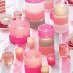 DIY Tissue Paper Candle Holders as Wedding Centerpieces