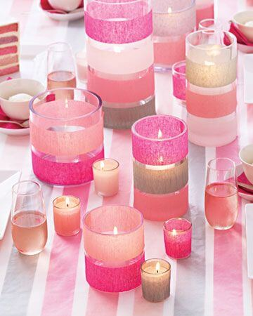 Tissue Paper Candle holders centerpieces for wedding