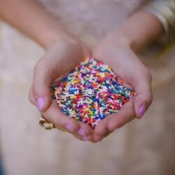 Candy Spinkles Tossed as Wedding Confetti