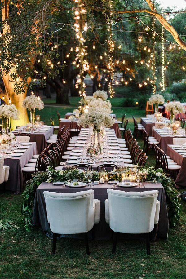 Back Yard Wedding Reception