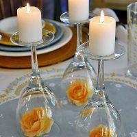 Upside Down Wine Glass Wedding Centerpiece - EASY Wedding DIY!