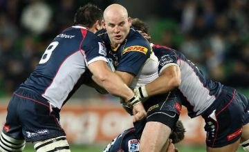 Stephen Moore will break Nathan Sharpe's record for most Super Rugby caps for an Australian player