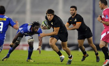 Lucas Amorosino on the attack for the Jaguares