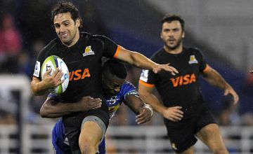 Nicolas Sanchez on the attack against the last South African team to visit Argentina