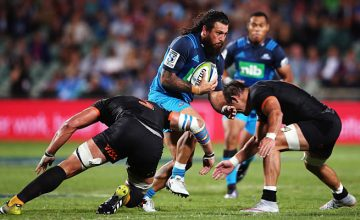 Rene Ranger attacks for the Blues against the Jaguares
