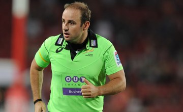 South African referee Stuart Berry
