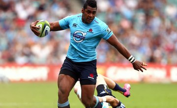 Taqele Naiyaravoro starts for the Waratahs in his 50th Super rugby match